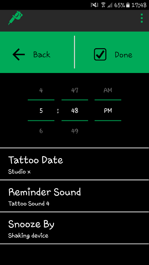 Tattoo Reminder - Free- screenshot