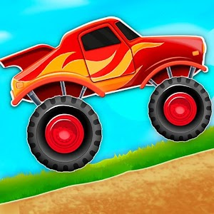 Kids Monster Truck Hill Rush for pc