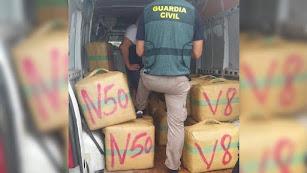 Imagen de archivo de una operación contra el tráfico de hachís.