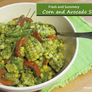 Corn and Avocado Salad.