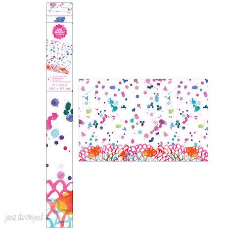 Jane Davenport Mixed Media 2 Collage Paper Sheets 15X23.5 - Splatter UTGÅENDE