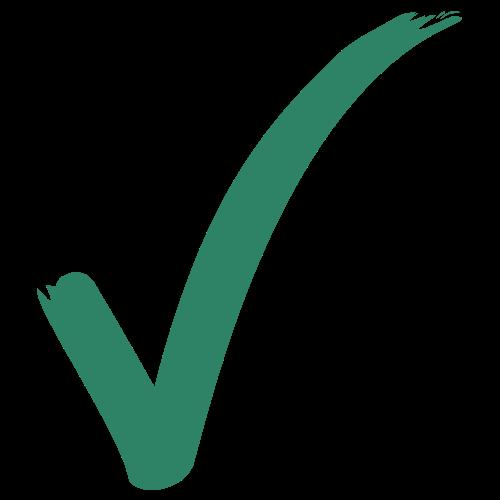 green check mark graphic