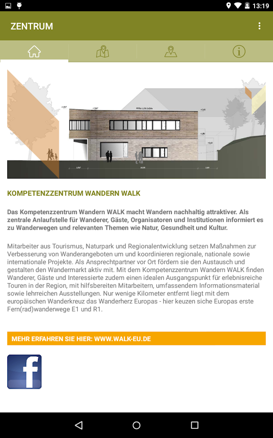 Kompetenzzentrum Wandern WALK- screenshot