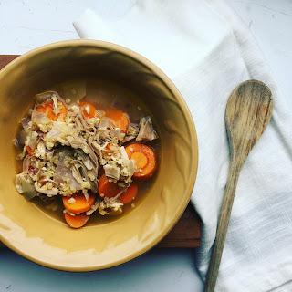 Leftover Turkey and Quinoa Soup
