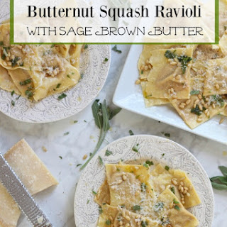 Handmade Butternut Squash Ravioli with Sage Browned Butter Recipe