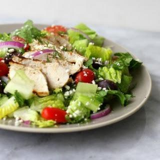 Grilled Greek Chicken Salad {Paleo} Recipe