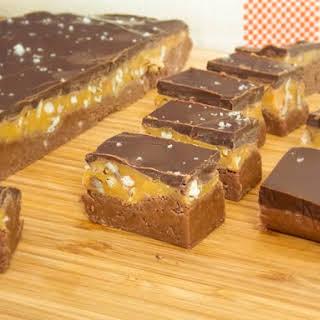Salted Chocolate Bourbon Praline Fudge.