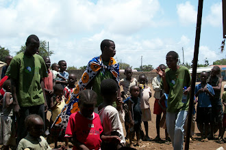 Photo: October - 16th - Community Trash Removal and Tree Planting. Youth groups performed dramas about Eco-Pesa.