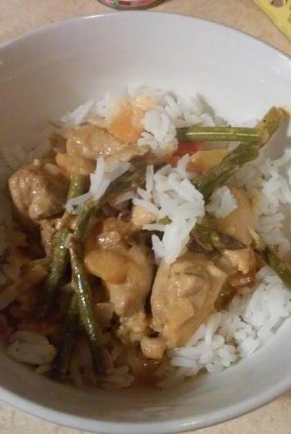 Curry Chicken With Asparagus
