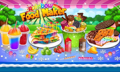 Ice Cream Rolls Maker- Rainbow Sandwich Food Stall 2.0 screenshots 1
