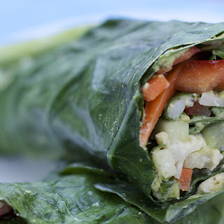 Veggie Wraps with Herbed Hummus