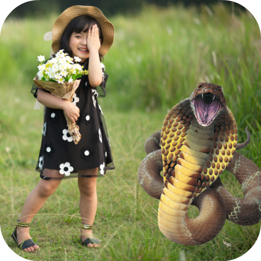 Snake in Photo: Prank Your Friends Icon