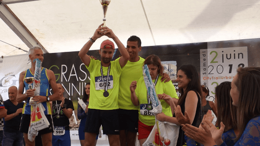 L'équipe de L'Arche à Grasse sur le podium de la Grasse Running Day
