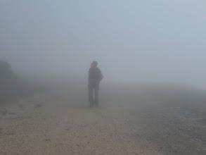 Photo: Andres entre la niebla. Que estara mirando ??