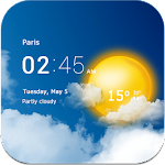 Transparent clock & weather 1.98.51