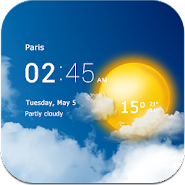 Transparent clock & weather APK icon