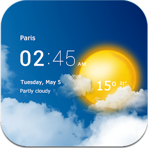Transparent clock & weather for PC