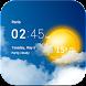 Transparent clock & weather image