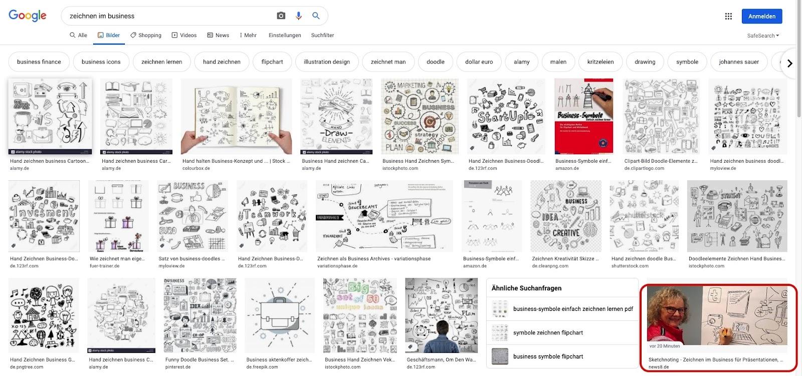"""Google Bildersuche zum Keyword """"Zeichnen im Business"""""""