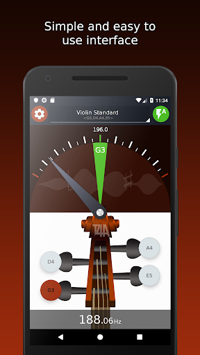 Violin Tuner - Free tuner for violin & fiddle 1.6.2 screenshots 2