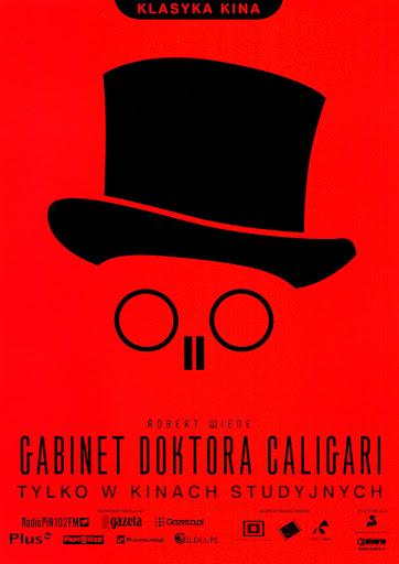 Przód ulotki filmu 'Gabinet Doktora Caligari'