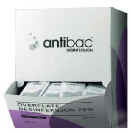 Antibac ytdesinfektionservett