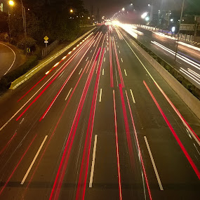 Highway at Night by Andrizal Fabino - Instagram & Mobile Other