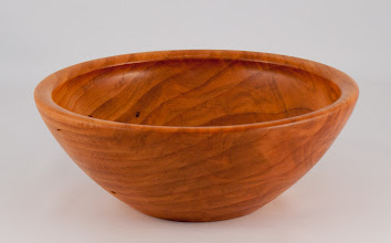 "Photo: Gary Nickerson - 8"" x 3"" bowl [cherry]"