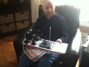 Photo: Lupe and new RC Air Boat