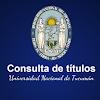 Consulta de Titulos UNT