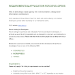 OLEX - REQUIREMENTS, APPLICATION FOR DEVELOPERS