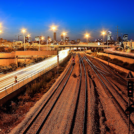 telaviv by Abu  Janjalani Abdullah - Transportation Railway Tracks ( transportation, railway tracks )