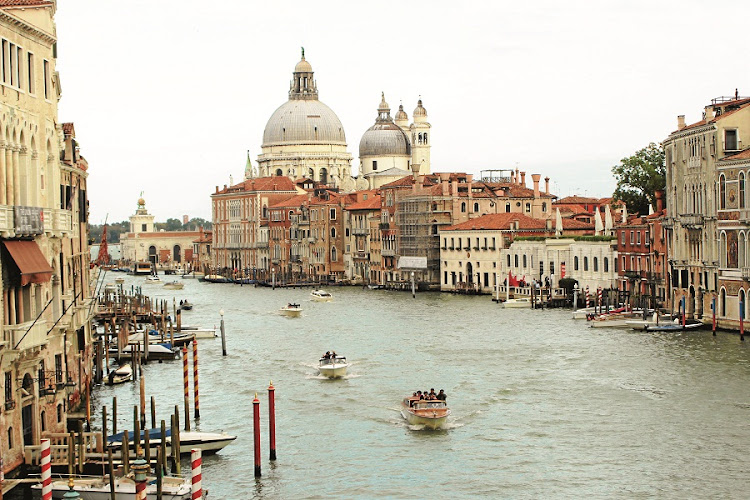 Grand Canal, Venice. Majestic waterway lined with palazzi. Picture: MADELEINE MORROW