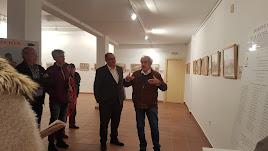 Emilio Sánchez presentando la exposición el pasado 27 de noviembre en Arboleas