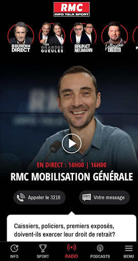 RMC ud83cudf99ufe0fInfo et Foot en direct - Radio & Podcast 4.1.0 screenshots 1