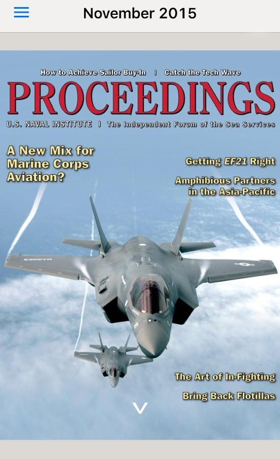 Proceedings Magazine- screenshot