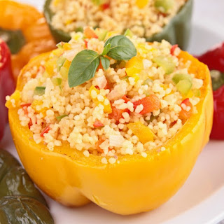 Couscous Stuffed Bell Peppers.