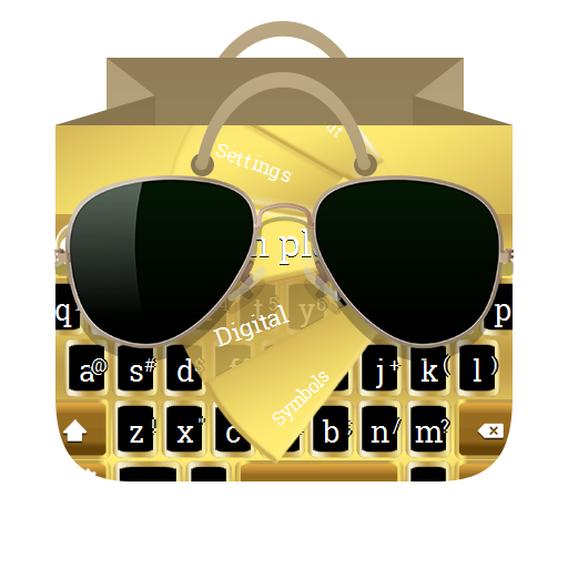 Golden plates GO Keyboard 個人化 App LOGO-APP試玩