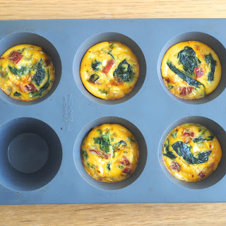 Spinach,sun Dried Tomatoes & Goat Cheese Frittata Muffins