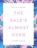 The Sale's Almost Over - Poster item