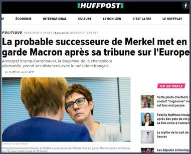 probable successeure Merkel met en garde Macron