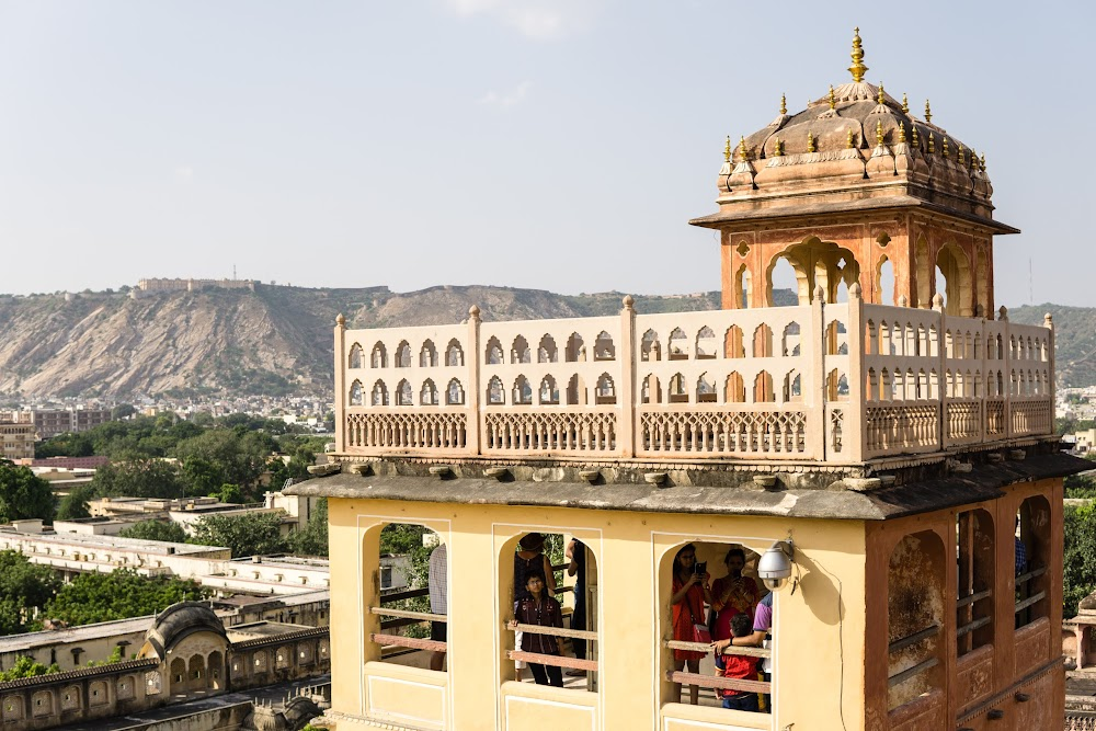 View from the top of the Hawa Mahal