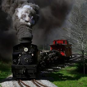 Faces by Chuck  Gordon  - Transportation Trains ( steam train )