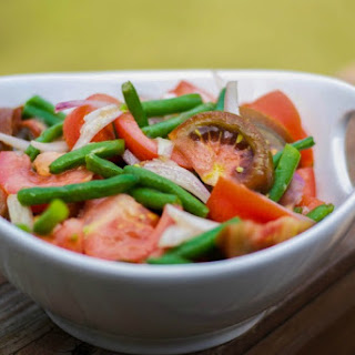 Green Bean & Tomato Salad with Ginger-Wasabi Vinaigrette