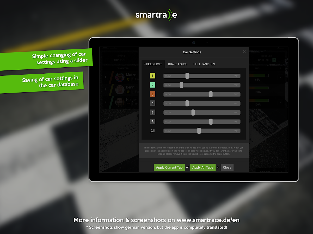 SmartRace - Carrera Race App- screenshot