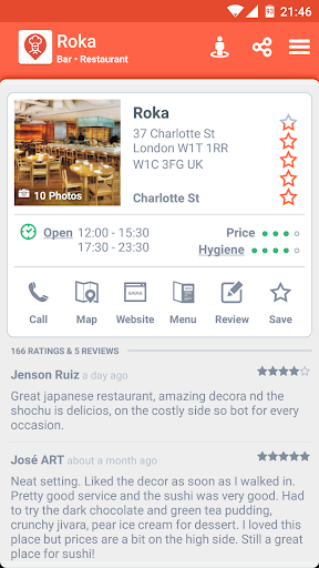 Restaurant Finder Screenshot