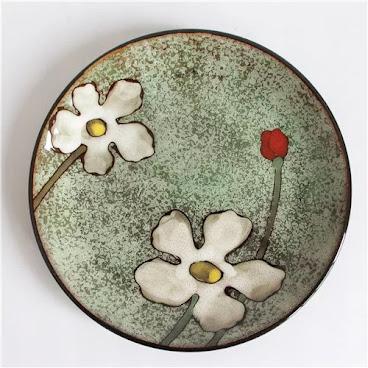 Green flower flat plate