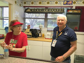 Photo: The Club Manager and Chief American Legion Bartender Sunny....