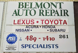 Photo: Belmont Auto Repair in Belmont, MA proudly displaying their BBB Accreditation