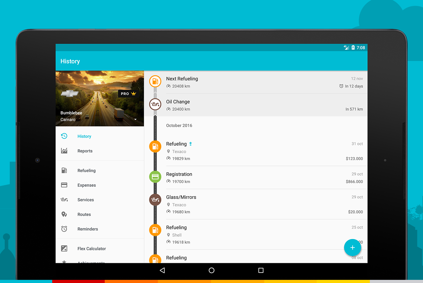 Drivvo – Car management / Gas log / Mileage Log- screenshot